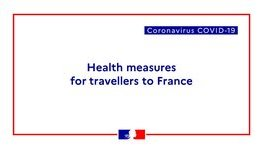 COVID-19: Information on travelling to France