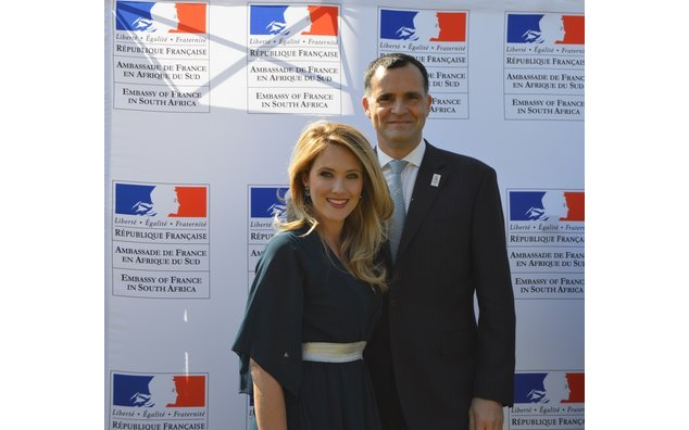 Ambassador of France to South Africa, H.E. Christophe Farnaud. & Catherine Constantinides