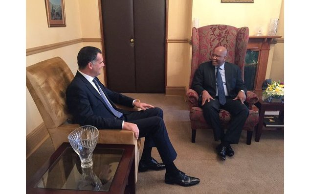 Ambassador Christophe Farnaud with King Letsie III