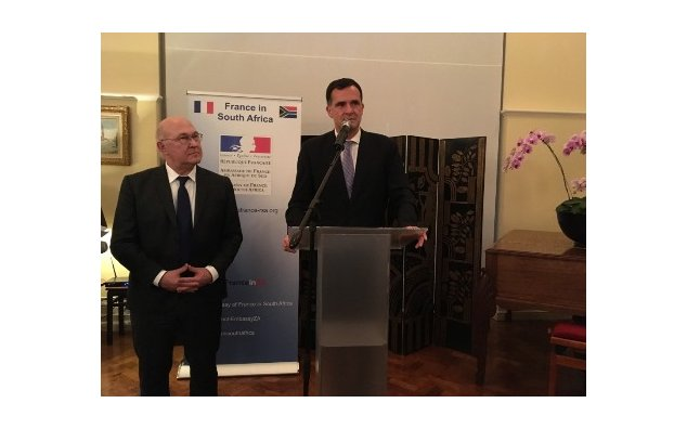 Reception at the French Residence in Pretoria - Minister Sapin and Ambassador Farnaud