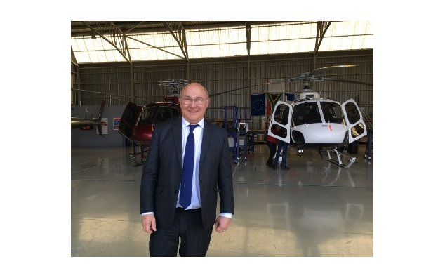 Minister Sapin visiting Airbus Helicopters in South Africa